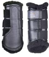 Gamaschen Comfort (HKM) mit schwarzem Fell