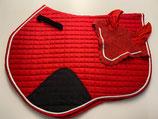 Schabracke  (VS/Springen) inkl. Ohrengarn, Farbe: rot