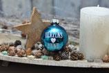 Weihnachtskugel, Blau Glänzend