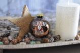 Weihnachtskugel, Dunkelbraun