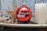 Große Weihnachtskugeln, Rot