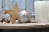 Weihnachtskugel, Graubraun
