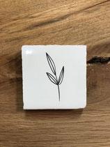 Mini keramieken tegeltje met afbeelding 'Wit' Blad 1