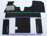 Tappeti per cabina Mercedes Sprinter dal 1995 al 2006 CAMBIO A PAVIMENTO