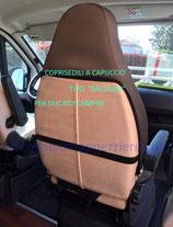 Coprisedili a Cappuccio per Ducato Camper n. 2 pezzi