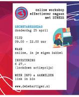 """Online workshop """"effectiever omgaan met stress"""""""