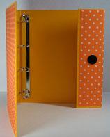 Fotoringordner A4 4-Ring-Reissmechanik Punkte (orange)