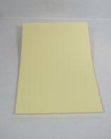 Briefpapier Zartgelb mit Streifenprägung (100 Blatt)