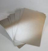 Briefpapier Silbermetallic mit Streifenprägung (100 Blatt)