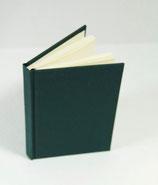 Buch A6 Leinen dunkel Grün