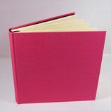 Gästebuch Leinen Pink