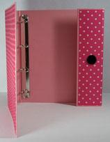 Fotoringordner A4 4-Ring-Reissmechanik Punkte (pink)