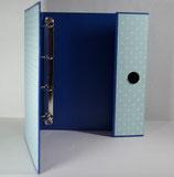 Fotoringordner A4 4-Ring-Reissmechanik Punkte (blau)