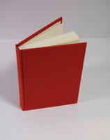 Buch A6 Leinen Rot
