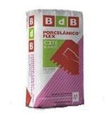 Cemento cola PORCELANICO FLEX C2TE, marca BdB.
