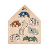 Peg puzzle Deer friends Colour Mix