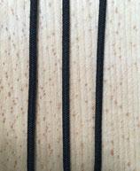 Gummikordel oval 4mm schwarz Meterware