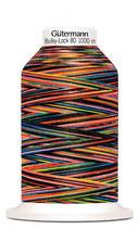 Gütermann Bulky-Lock 80 1000m Multicolor Rainbow dark 9842