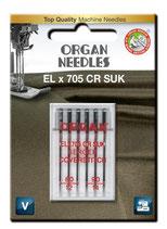 Organ Organ EL x 705 CR SUK a6 Stück 080/090 Serger Coverstitch Blister