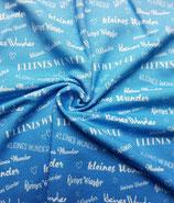 """blauer Farbverlauf """"kleines Wunder"""" Viscose-Sommersweat Meterware"""