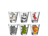 Leonardo Trinkglas für Kinder Bambini Tiermotiv 215 ml, 6 Stück