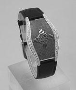 TS-Silber Armband Dunkel mit Steine Damen (mit Chip 3.9)