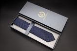 Krawatte blau weiße Punkte