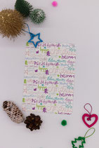 "Rubbel- Postkarte ""XMAS Lettering"""