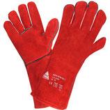 Leder-Grillhandschuhe, rot