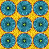 Inspiration africaine jaune/bleu