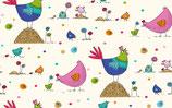 Poule Multicolore