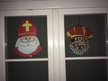 Raam- of muurdecoratie Sint en Piet.