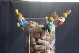 Set van 3 hangende paaskonijntjes