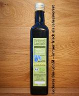 500 ml Leckeres Bio-Leinöl als praktisches, Jahresabo inkl. Versand!