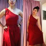 Vintageinspired Kleid Asymmetrisch