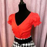 Vintageinspired Bluse mit Rückendetail