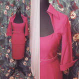 Vintageinspired Kleid Magenta