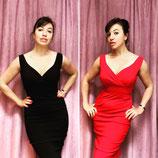 Vintageinspired Kleid Viskose rot