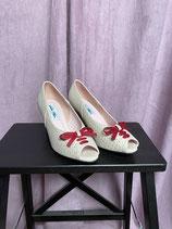 Vintageinspired Schuhe - creme Peeptoe
