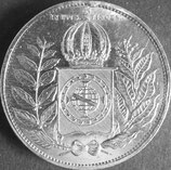 ブラジル銀貨 西暦1852年