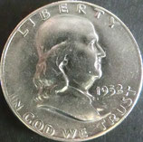 フランクリン1/2ドル銀貨 西暦1952年