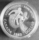 カナダプルーフ銀貨 西暦1983年