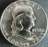 フランクリン銀貨  西暦1958年