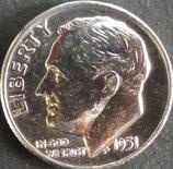 ワシントン銀貨 西暦1951年
