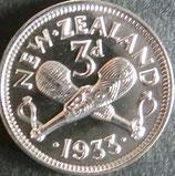 ニュージーランド 銀貨 西暦1933年
