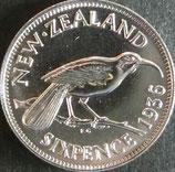 ニュージーランド銀貨 西暦1936年