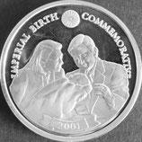 リベリアプルーフ銀貨 西暦2001年