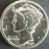 マーキュリー銀貨 西暦1924年