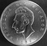 エクアドル銀貨 西暦1897年