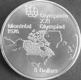 カナダオリンピック記念銀貨 西暦1973年